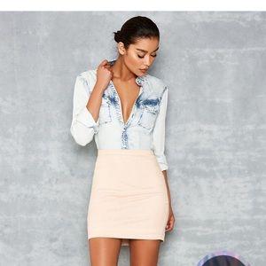NWT Mistress rocks faux suede skirt